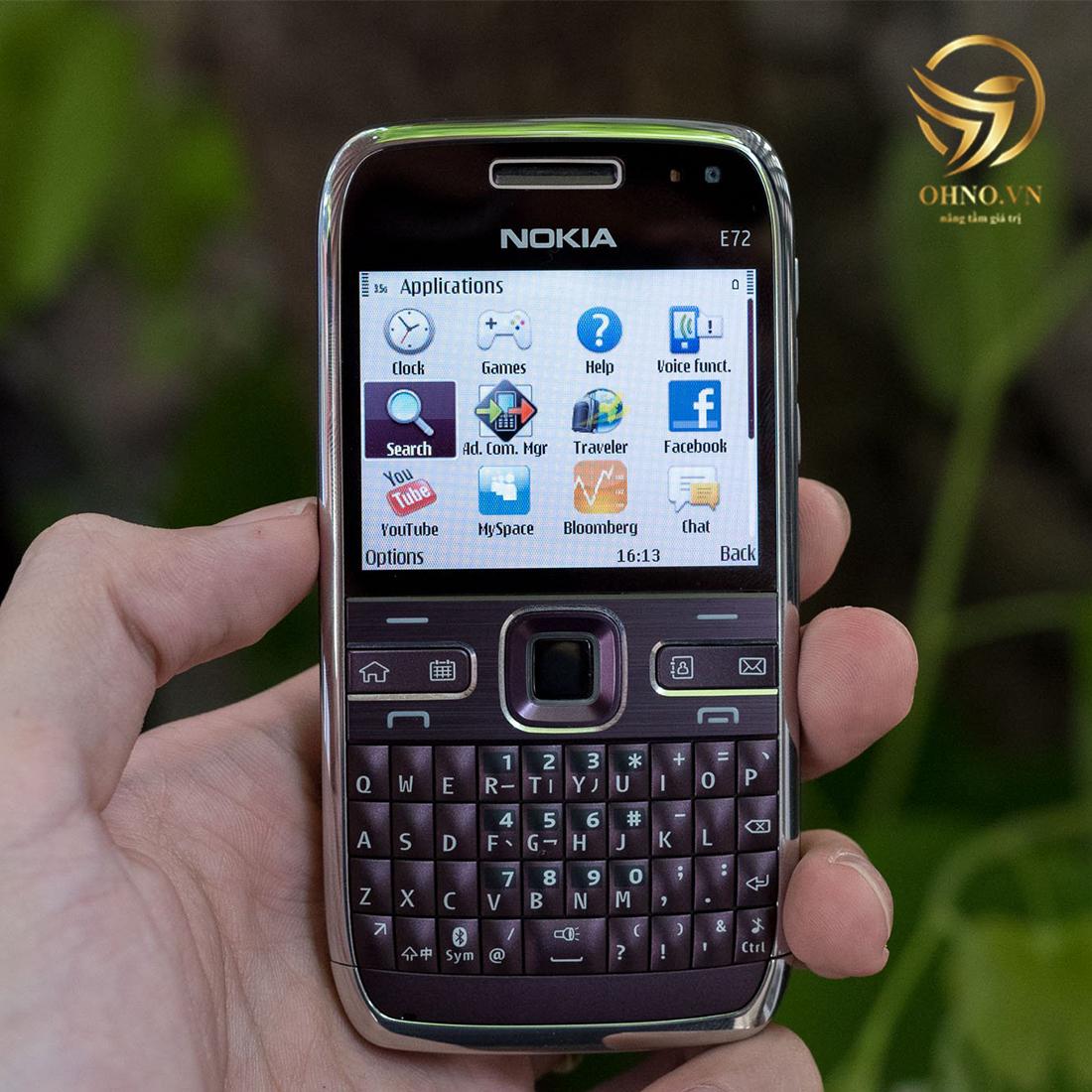 điện thoại nokia cổ e72 wifi cũ chính hãng main zin